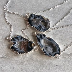 COMING SOON! Silver Druzy Geode Crystal Necklace